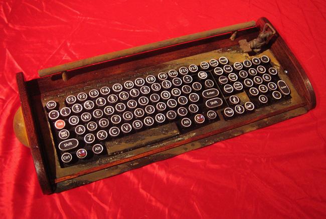 Rusty Old Keyboard by woodguy32