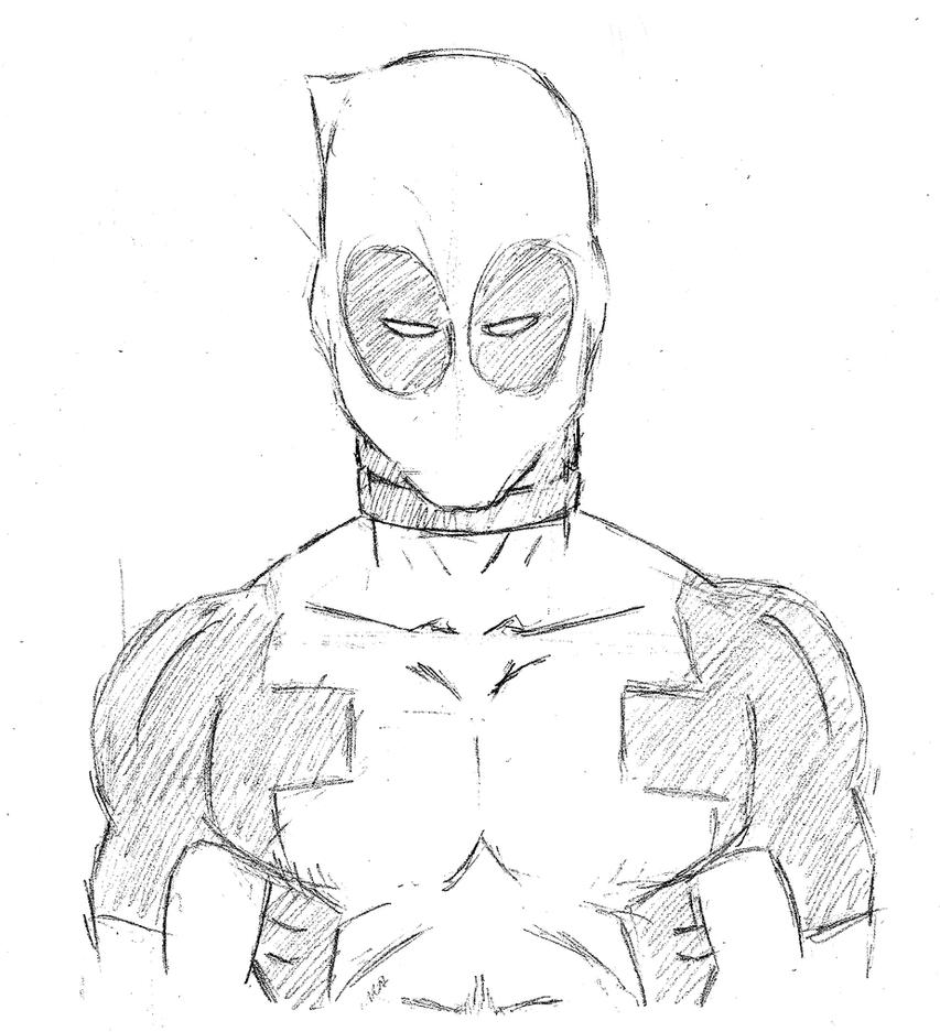 Deadpool Drawing In Pencil Viewing Gallery
