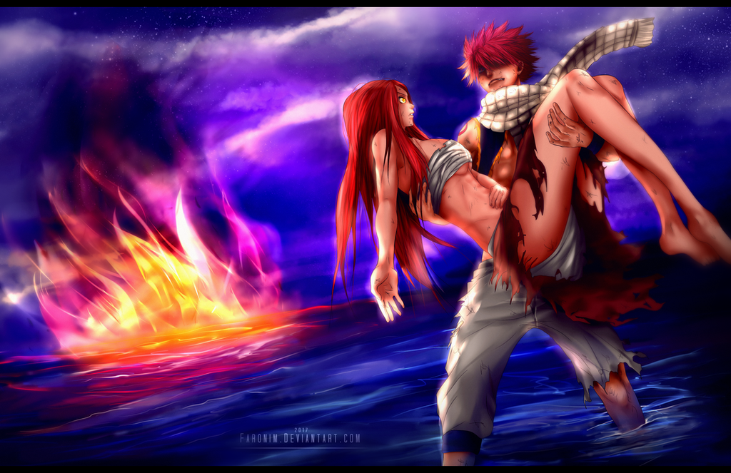 Fairy Tail chapter 100 - Natsu and Erza by Faronim