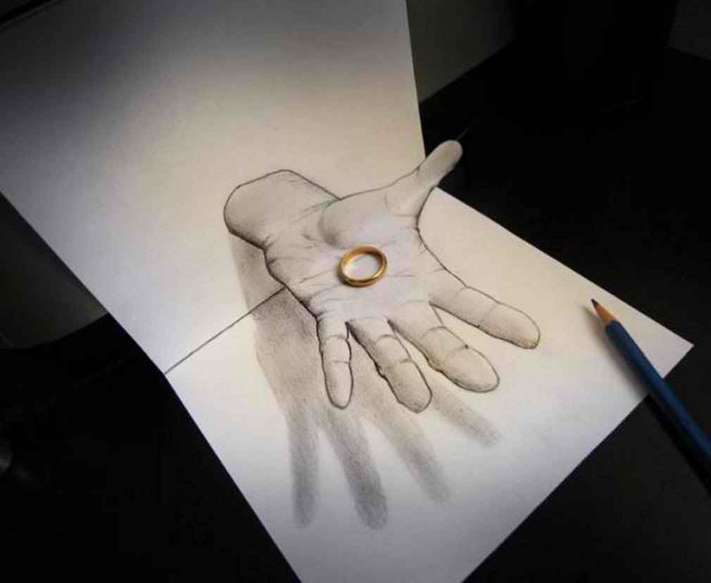 Incredible anamorphic 3D illusion drawings by Ital