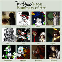 2011 Art Summary. by KingNeroche