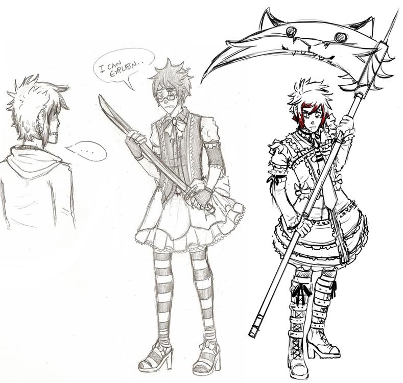 Sometimes I draw crossdressing. by KingNeroche