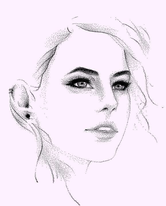 Effy Stonem Dot Portrait By Alexaink On Deviantart
