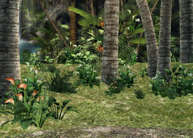Jungle Paradise Background by Lil-Mz