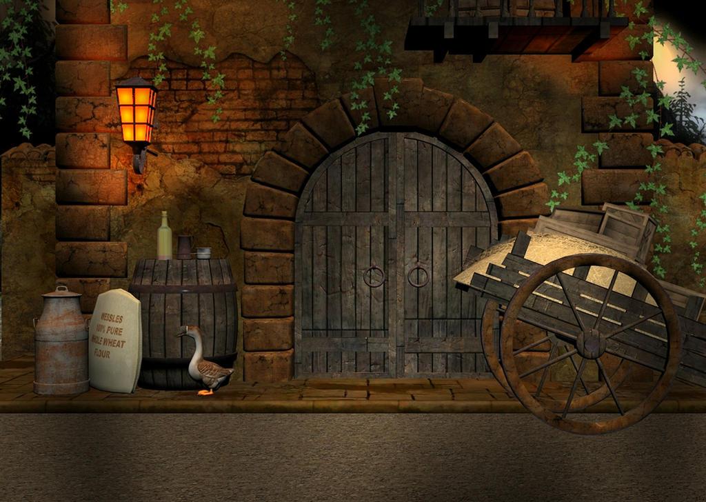 medieval street background by lil mz on deviantart