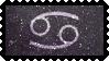 Zodiac Stamp: Cancer by lesserpandas
