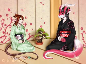 [C] Enjoying Tea with a Friend