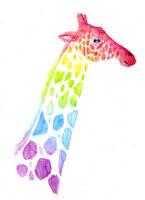 Rainbow Giraffe by gothic180