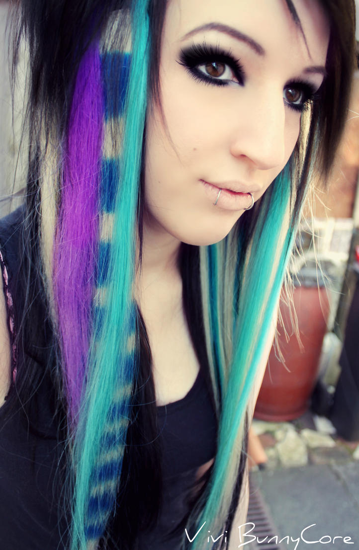 Vivi Bunnycore Colorful Emo Scene Hair By Vivibunnycore On Deviantart