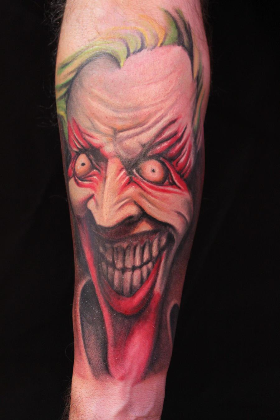Batman joker tattoo by ianik13 on deviantart for Joker batman tattoo