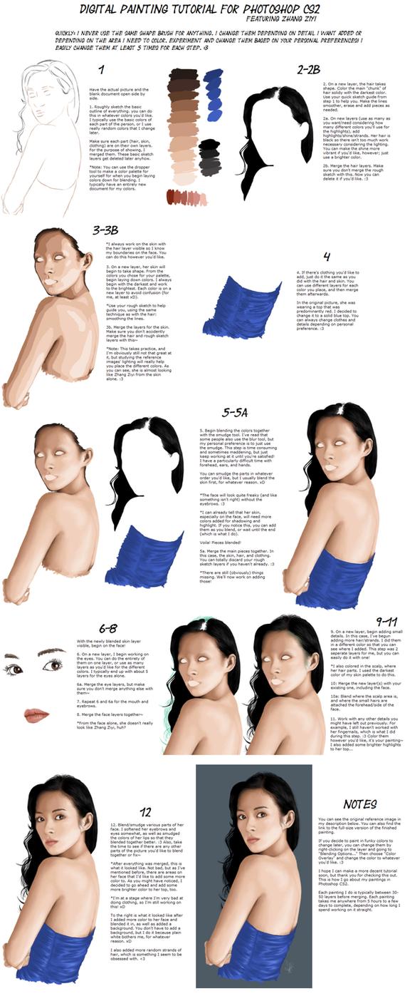 digital painting tutorial by 9095 on deviantart