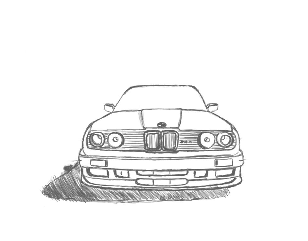 bmw m3 drawing by revolut3 on deviantart