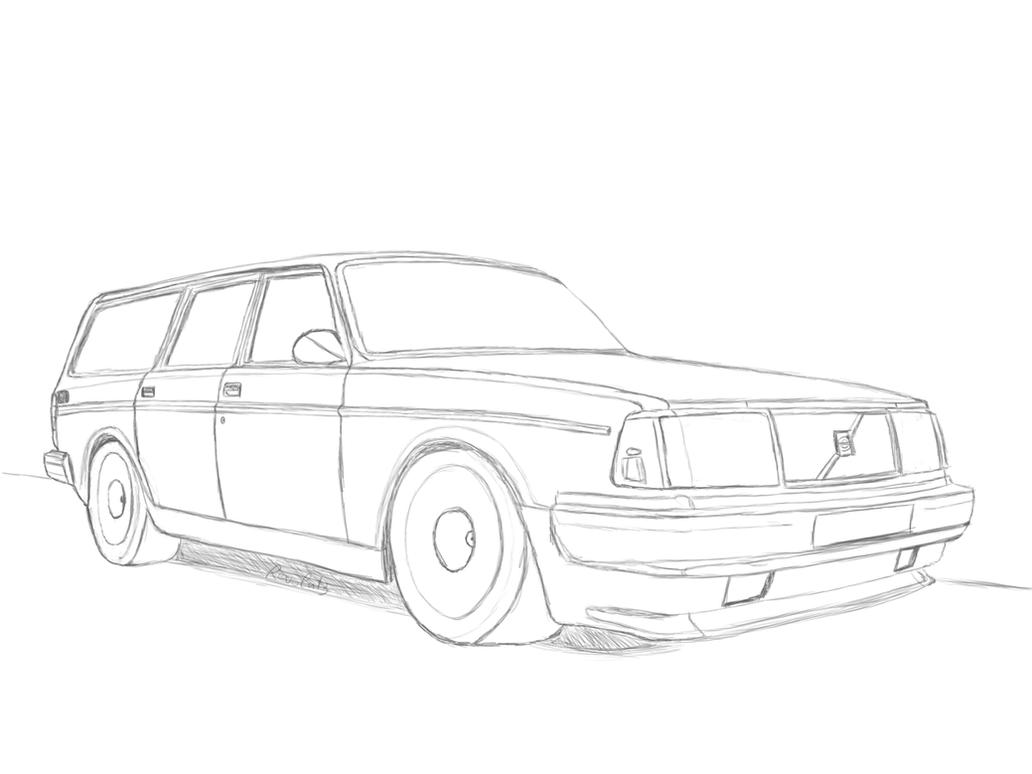 Chey Ninjago Kleurplaat Volvo 245 Turbo Drawing By Revolut3 On Deviantart