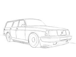 Nissan Skyline R34 Drawing by Revolut3 on DeviantArt