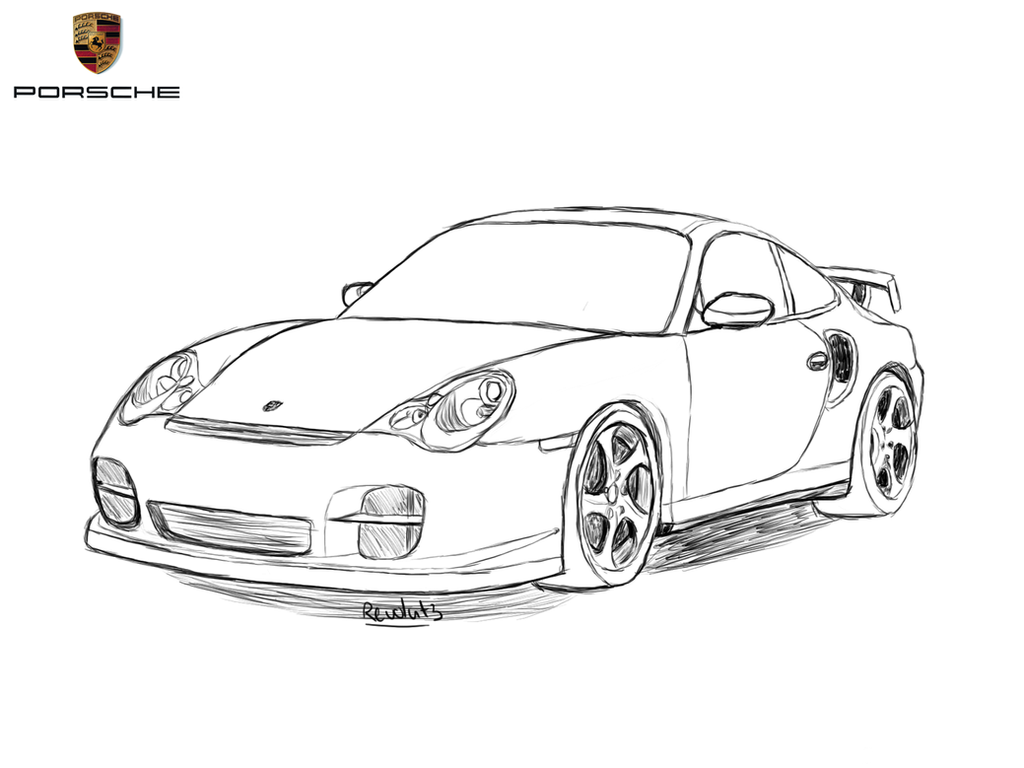 porsche 911 drawing by revolut3 on deviantart