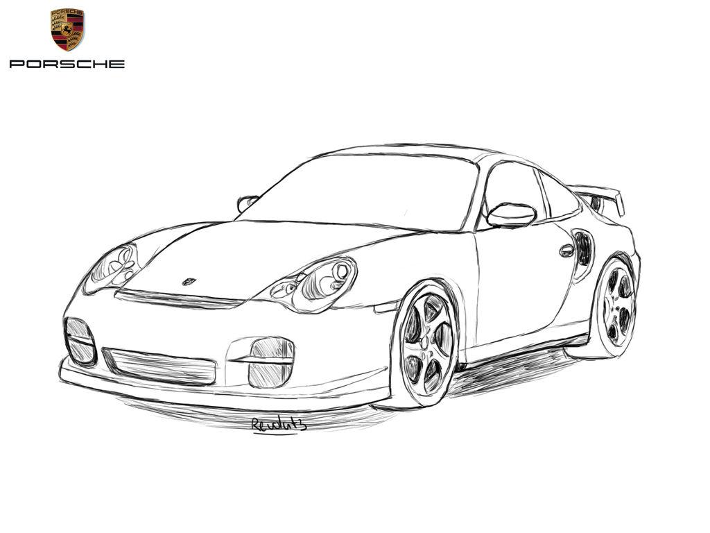 Porsche 911 Drawing By Revolut3 On Deviantart