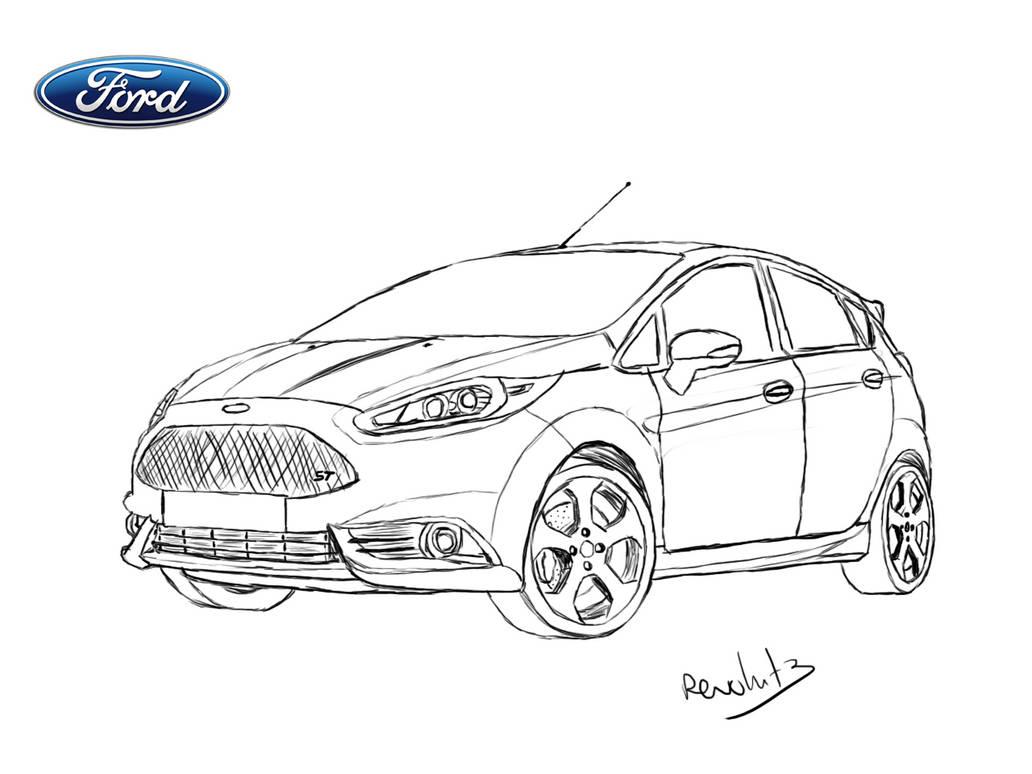 Ford Fiesta St Drawing By Revolut3 On Deviantart