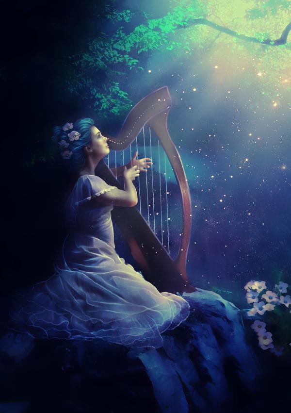 Enchanted harp by obereg