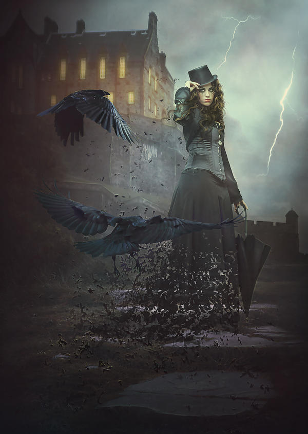 Dark Mary Poppins by obereg