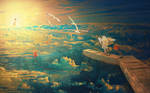 Sea of Angels over my city by obereg