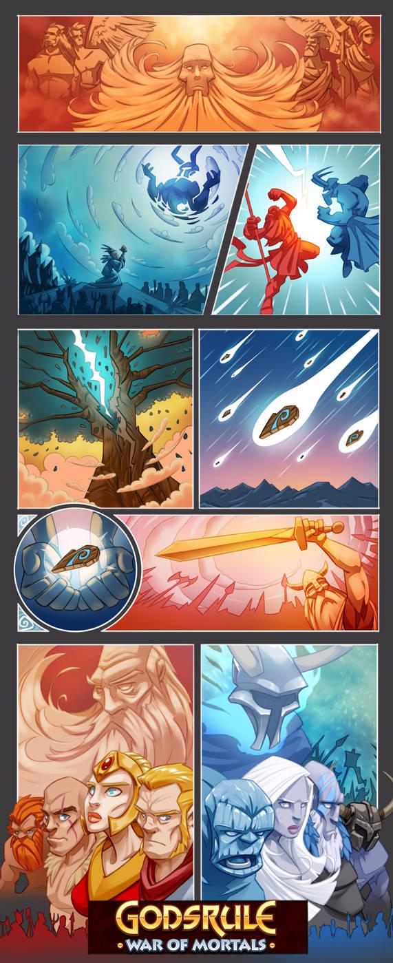 Godsrule - War of Mortals intro panels