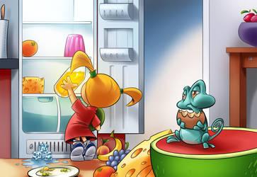 Tiny Places cutscene - the fridge by madebydori