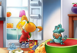 Tiny Places cutscene - the fridge