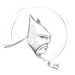 Huion 610 Pro batman test by madebydori