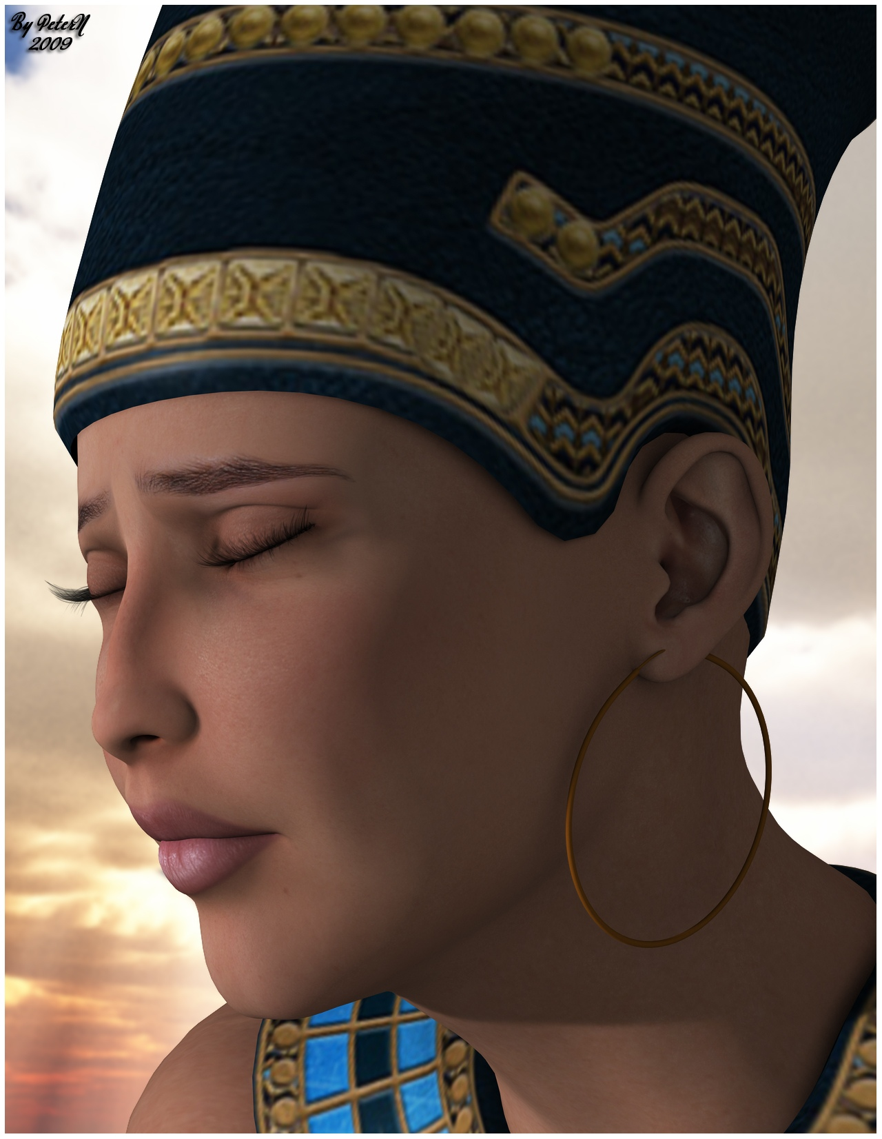 http://fc09.deviantart.net/fs29/f/2009/247/c/c/White_Nefertiti_by_PeterN64.jpg