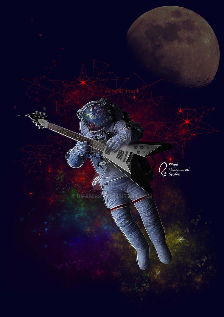 astronaut rockstar by rifani89