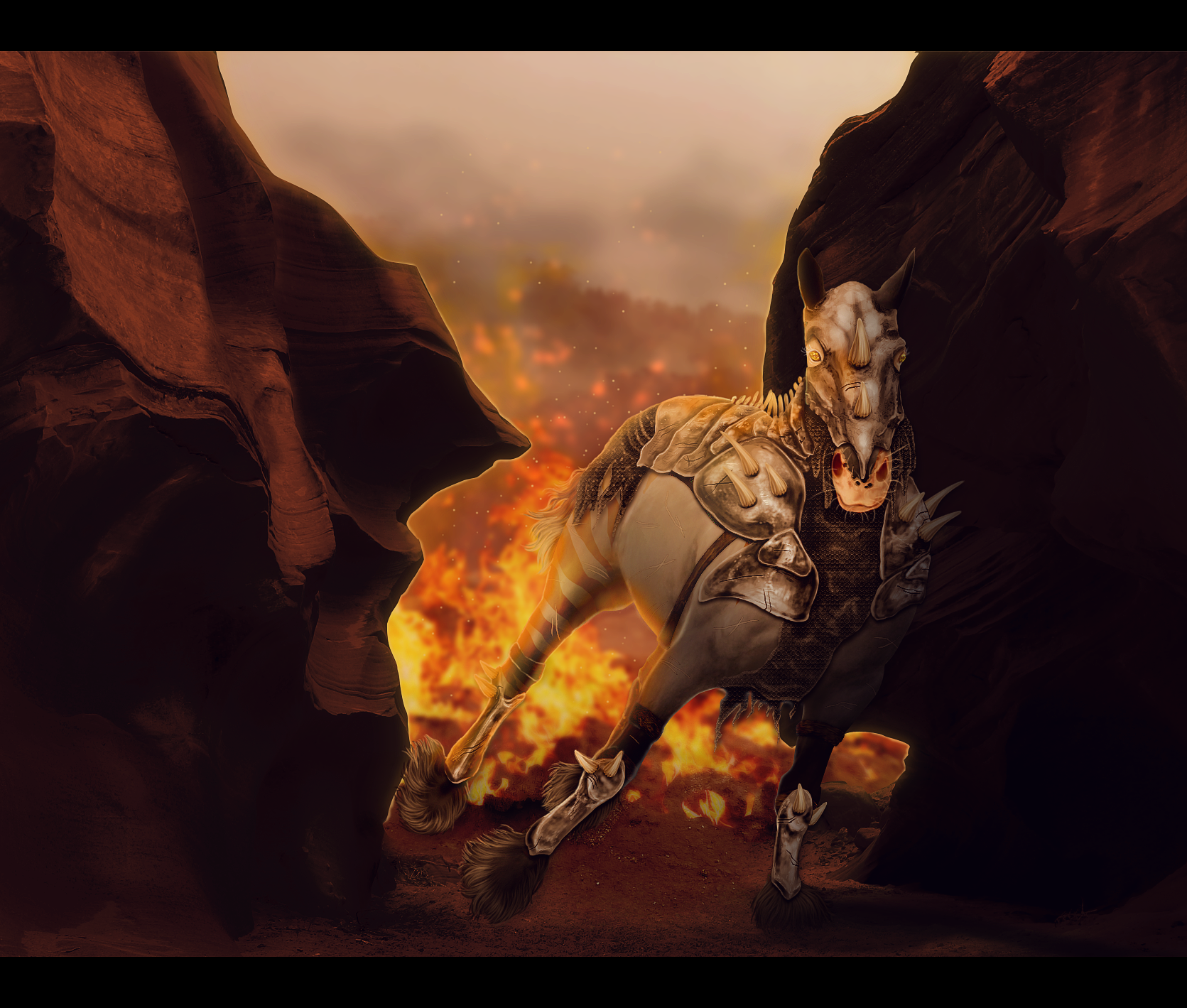 FROM THE FIRE I WALK {COMMISSION} by elegant--tragedy