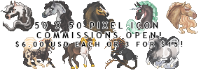 PIXEL ICON COMMISSIONS OPEN!