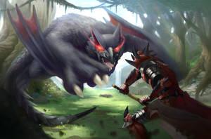Nargacuga Attack! by PeruzziPablo