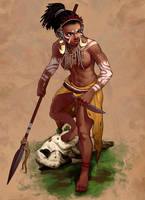 Character Design Challange - African Tribe by PeruzziPablo