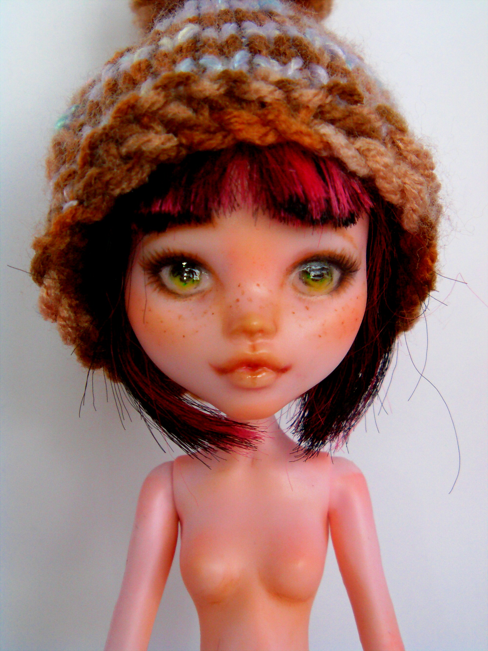 Custom faceup of draculaura monster high doll by titchi on deviantart