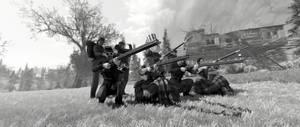 Civil War reenactment in Apallachia.