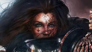Sororita Face closeup by M1keN