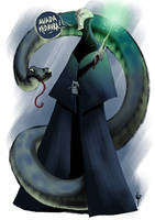 Lord Voldemort and Nagini by Hyxs