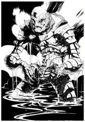 Creature from the Black Lagoon [ink version] by Hyxs