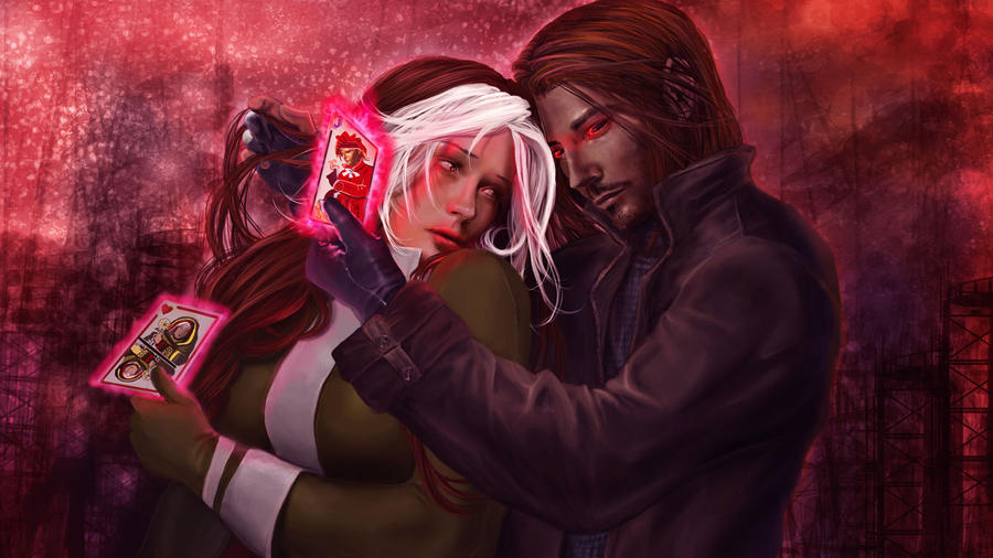 Rogue and Gambit by IvannaMatilla