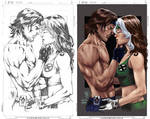 Gambit and Rogue by Abreu