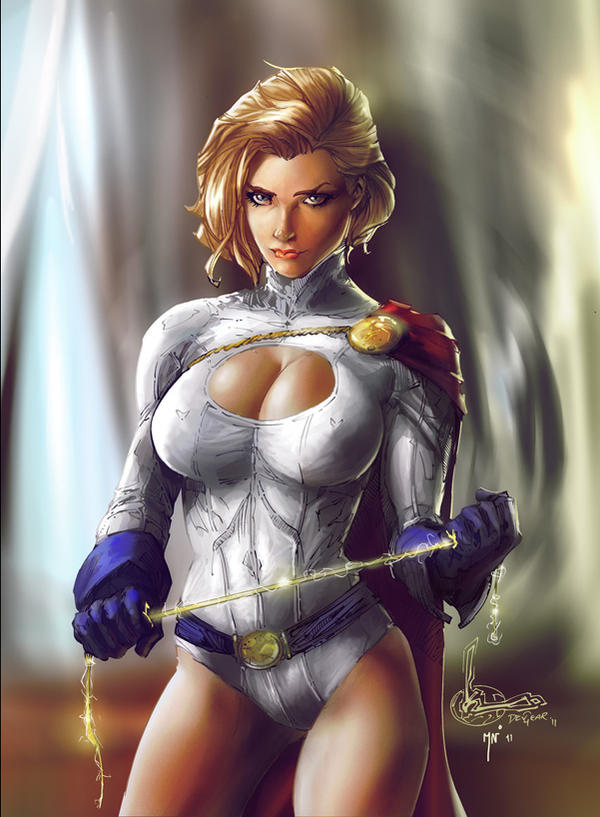 Power Girl Color Battle by IvannaMatilla