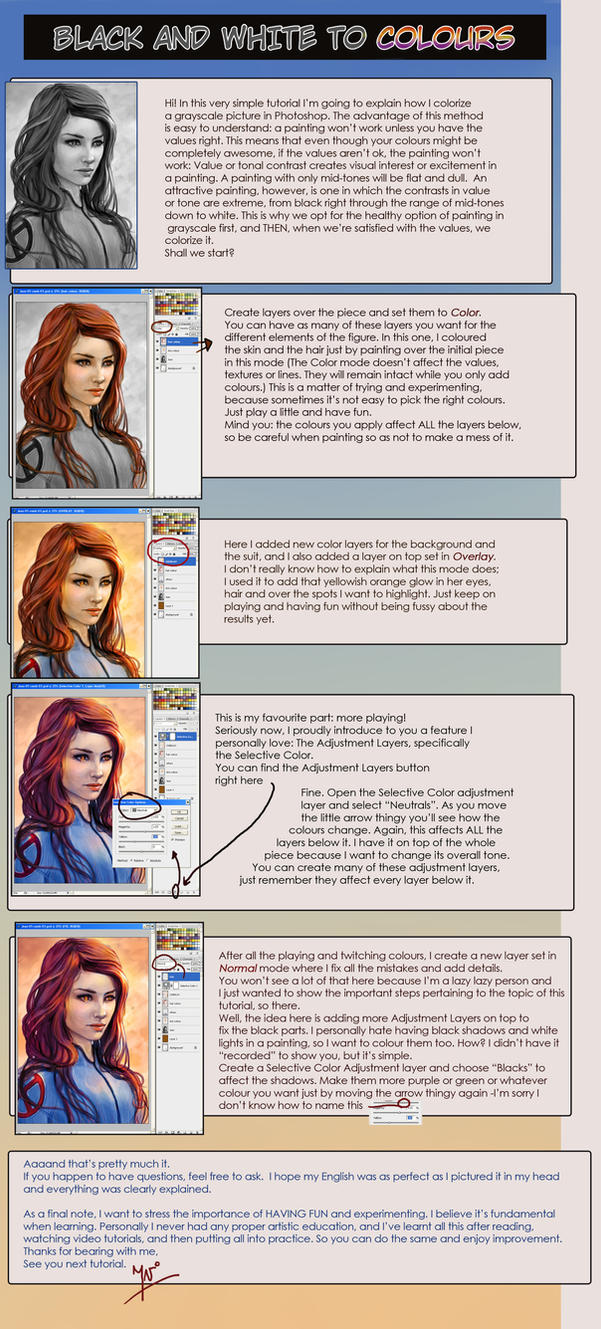 Grayscale to Colours Tutorial by IvannaMatilla on DeviantArt
