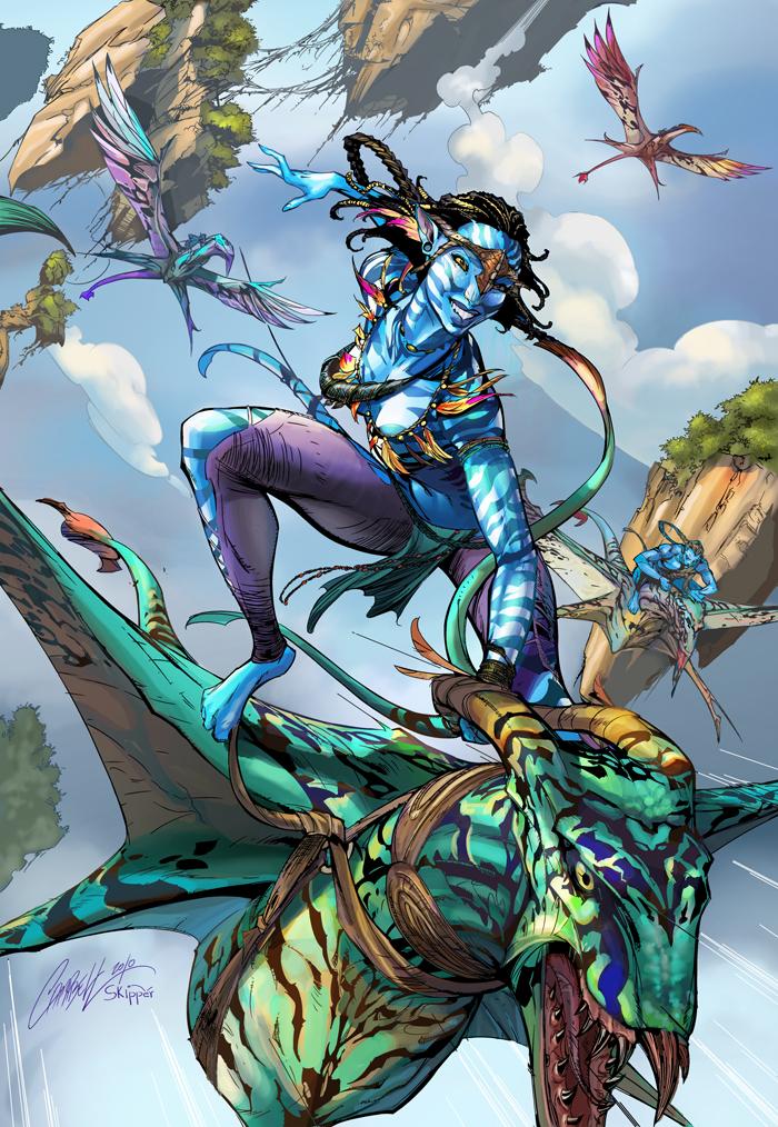 Avatar - Flying over Pandora by IvannaMatilla