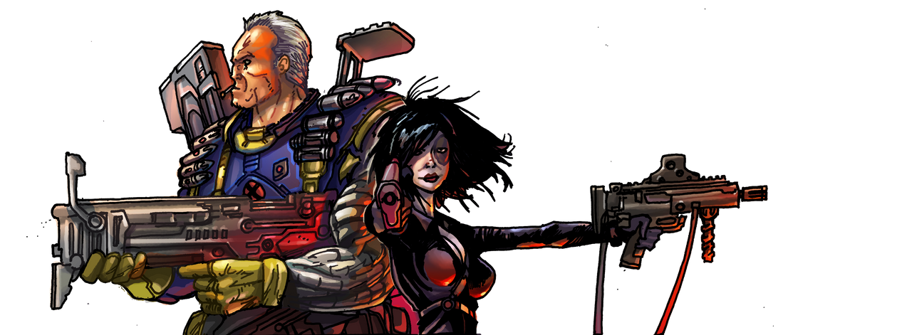 Cable and Domino by IvannaMatilla