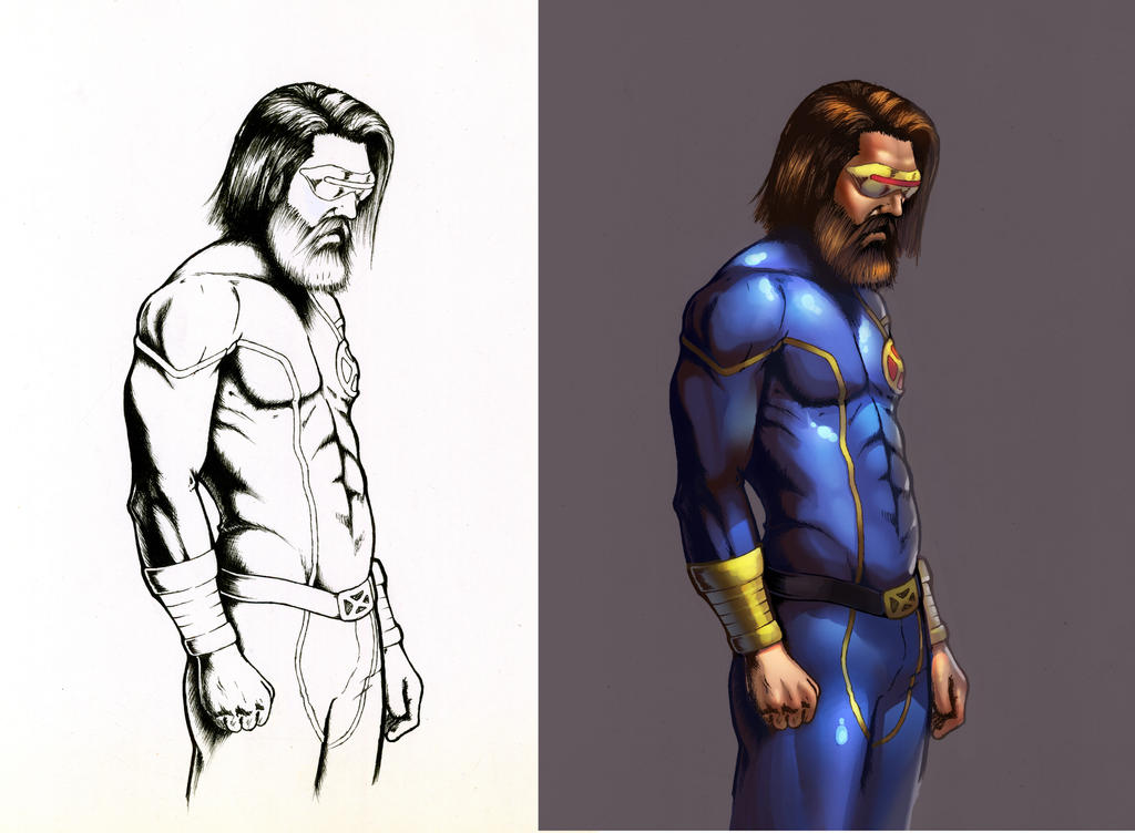 Bearded X men Cyclope by IvannaMatilla