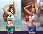 Ten Years challenge Mary Jane