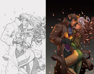 Gambit and Rogue by Mad by IvannaMatilla