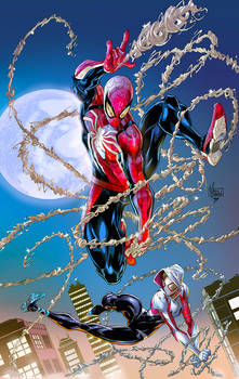 Spider Man and Spider Gwen colors