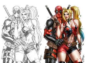 Deadpool meets Harley